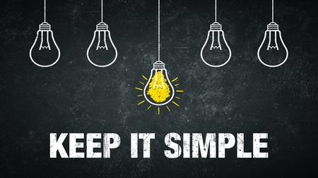 Keep it simple - text and light bulbs