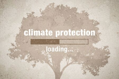 banner with loading bar - climate protection