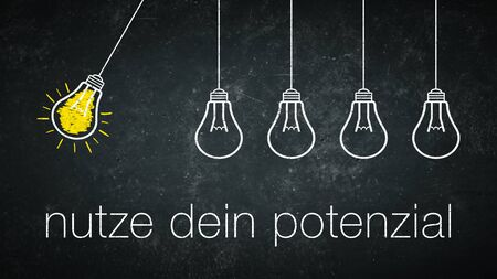 Nutze Dein Potential - german phrase - translation: use your potential Stock Photo