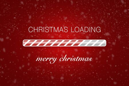 "Loading bar with text ""christmas loading"" and ""merry christmas""."