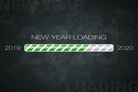 Loading bar 2019/2020: new year loading