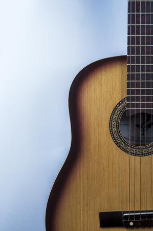 acoustic guitar on white background Reklamní fotografie