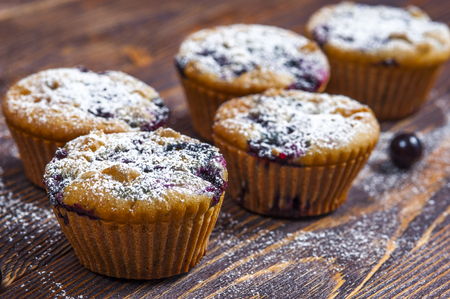 black currants: Muffins with black currants