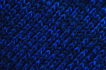 tejido de lana: Textura azul de la tela de lana, primer plano. Fondo abstracto