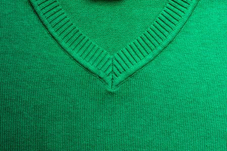 tejido de lana: Esmeralda tejido de punto de lana, detalle en detalle.