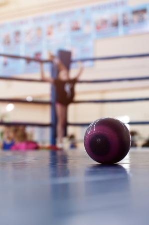 Children on the boxing ring shot from corner