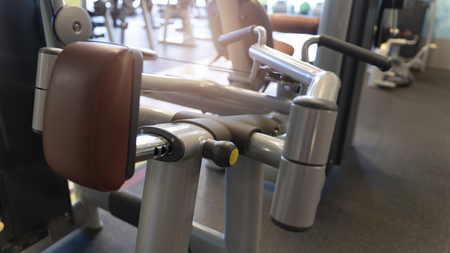Close up of training apparatus of grey color Imagens
