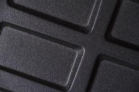 Close-up metallic casing of black cells