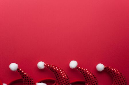 Christmas Red Headbands With Santa Claus Hat