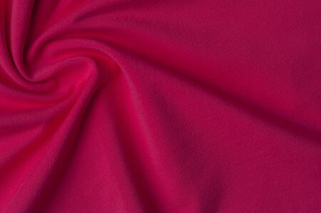 Beautiful bright red knit fabric for sewing