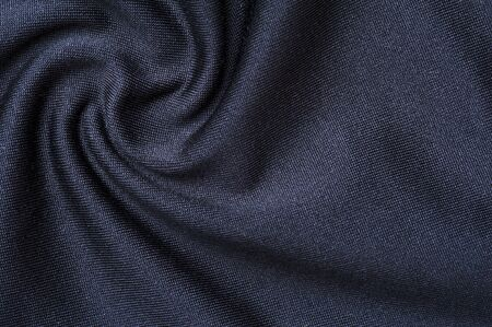 Fragment of crumpled gray polyester wear 写真素材 - 134427363