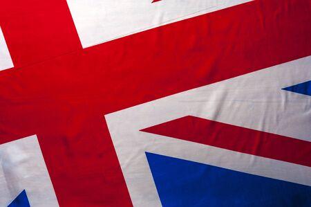 Top view flag of United Kingdom