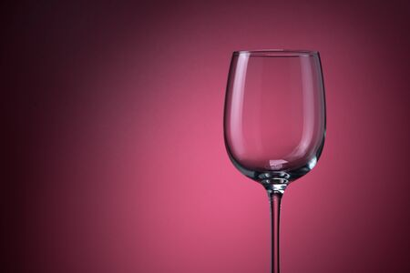 Empty Glass Goblet On A Background. Menu Concept Bars Restaurants And Alcohol Tasting