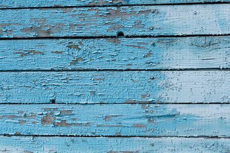 Planches de planches de bois bleu clair en gros plan. Image de fond