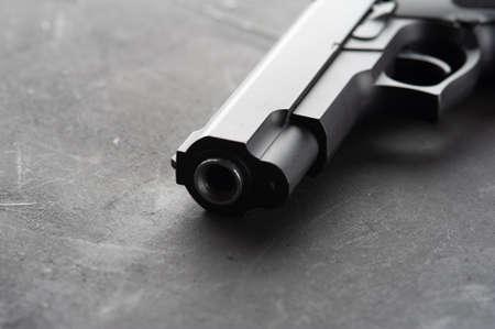 Black modern gun