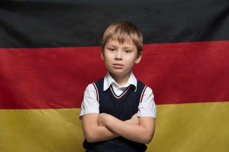 Funny Little boy an elementary school student