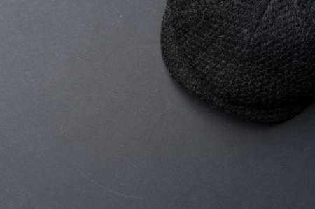 Concept of hats and mens clothing. Autumn and Spring Clothing Concept Standard-Bild