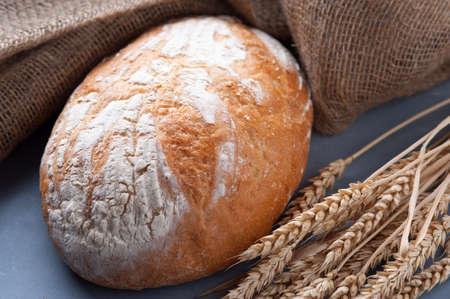 Freshly baked white flour bread.