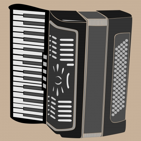 performance art: Vector illustration of accordion.