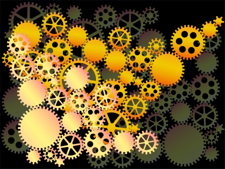 dag: background of gear wheels  Illustration
