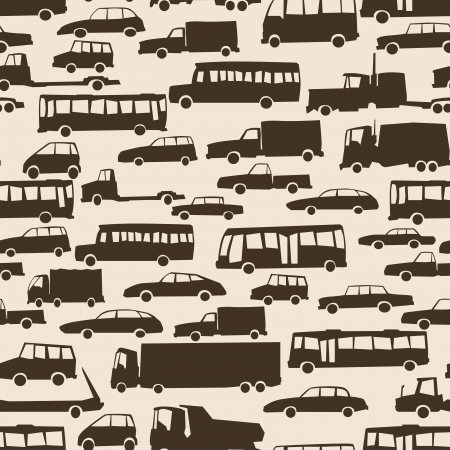 Vector abstract seamless background with many cars in traffic at rush hour. Stock Vector - 16272070