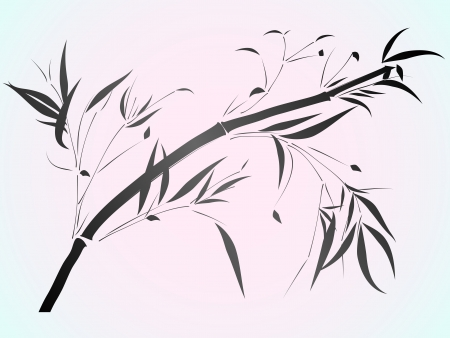 Simple vector of Bamboo in the Asian style drawn by ink Stock Vector - 16626386