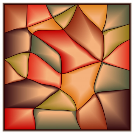 glass reflection:  Vector of square stained-glass window. Illustration