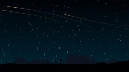 hosszú expozíció: Egyszerű vektor csillagok nyoma körök az égen a repülőgép fények (néz ki, mint a hosszú expozíciós fényképezés).