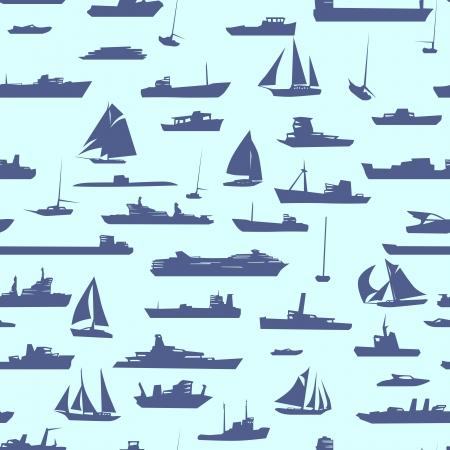Abstracte naadloze achtergrond met vele schepen in zee. Stockfoto - 18054680