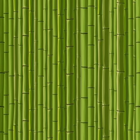 stockade: Seamless cartoon background of green wall from bamboo.