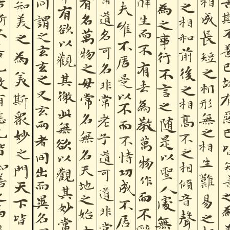 calligraphie arabe: Seamless du rouleau avec de nombreux hiéroglyphes chinois (écrit).