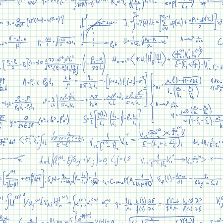 computation: Seamless of notebook sheet in square (cage) with many formulas.