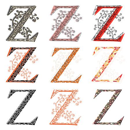 buchstabe z: Set von Varianten fishnet (Spitze) Gro�buchstaben Z.