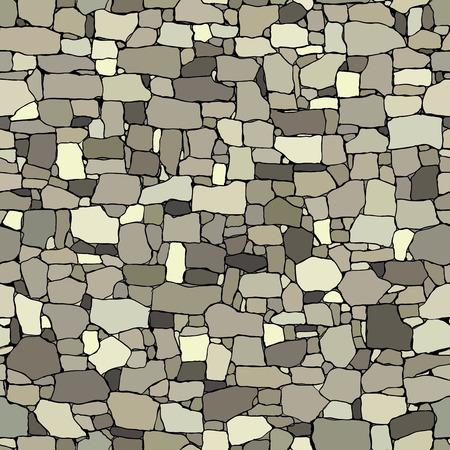 Seamless sfondo colorato di antico muro di pietra edificio con i mattoni di diverse dimensioni. Archivio Fotografico - 42812715