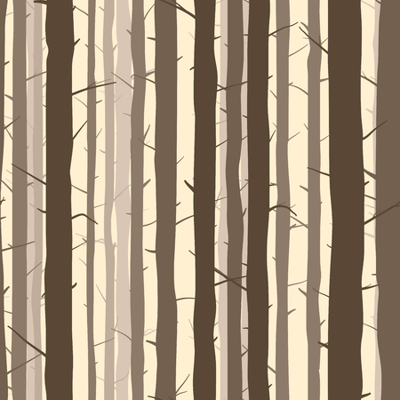 grove: Seamless vector abstract background with many trunks of pine trees. Illustration