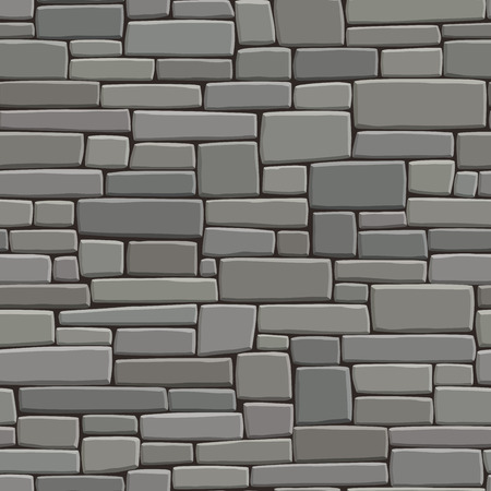 building bricks: Seamless background of rectangular stones wall building with different sized bricks (in grey tone). Illustration
