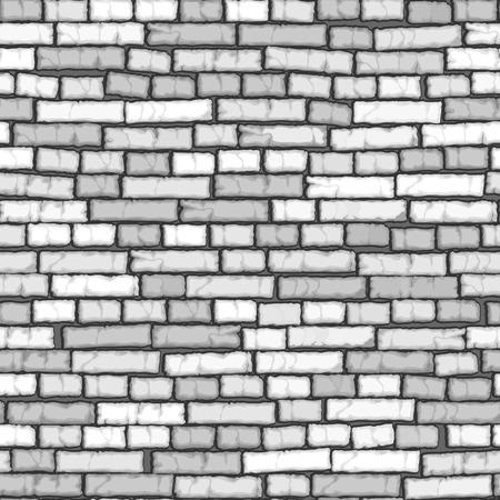 ladrillo: Fondo transparente de blanco de dibujos animados antiguo muro de ladrillo (con el crack).