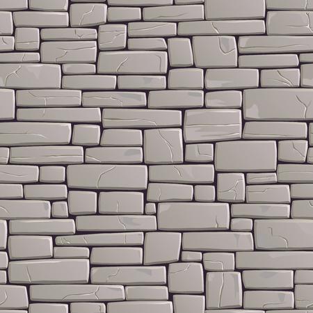 Vector Inconsútil Negro Y Fondo Blanco Del Edificio Antiguo Muro De ...