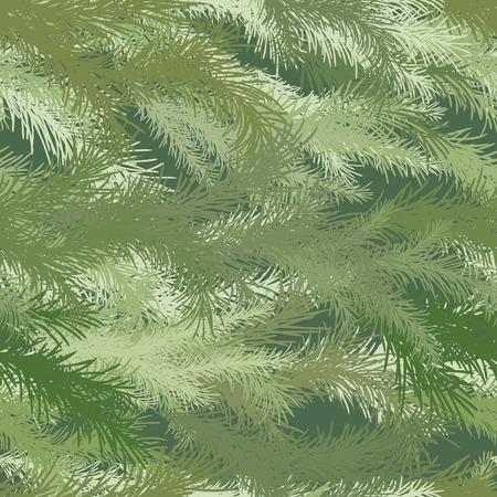 green tone: Seamless wallpaper spruce branch in green tone.
