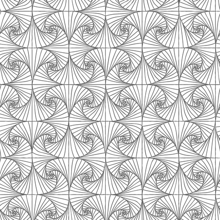 effortless: Vector seamless abstract monochrome spiral pattern.
