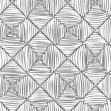 ベクターのシームレスな抽象的なモノクロ寄木細工パターン。