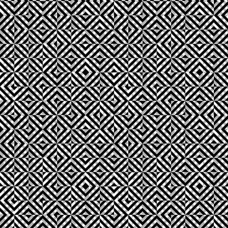 ベクトル シームレスの抽象的な白黒パターンひし形正方形。