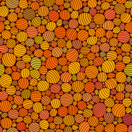 A Vector seamless abstract red pattern of striped bubbles.