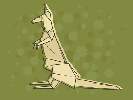 Vector abstract simple illustration drawing outline kangaroo. Ilustração