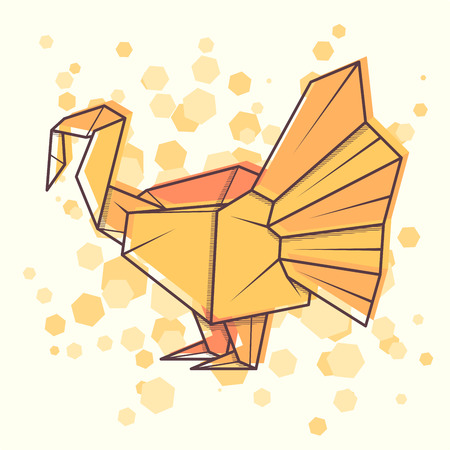 Vector abstract simple illustration drawing outline turkey. Stock Illustratie