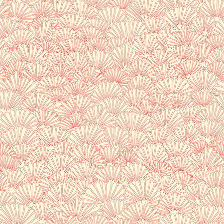 Vector seamless floral light pattern of pink yellow petals of flower.
