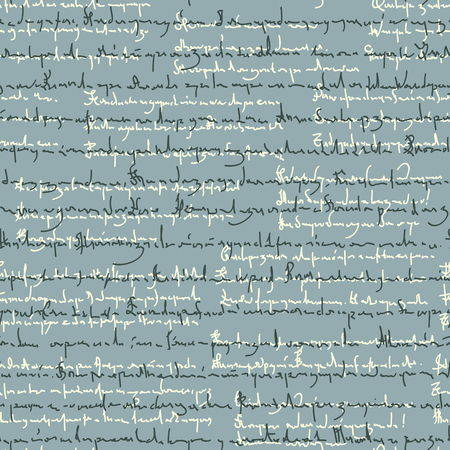 Seamless background pattern of illegible handwriting (scribble ,scrawl) of poems.