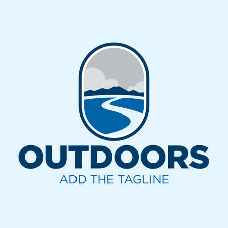Outdoor Mountain Range Logos 向量圖像