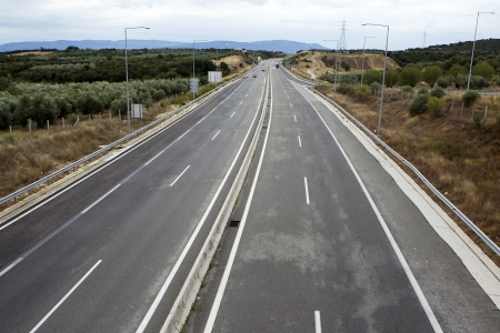 An empty highway on a autumn day  Stock Photo - 16268399