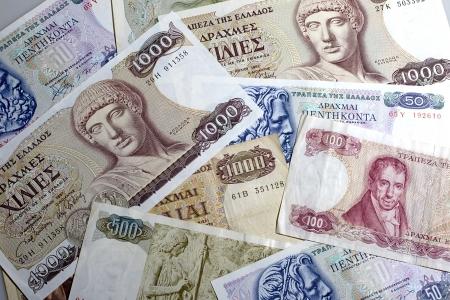 greek currency:  Old greek drachma cash notes